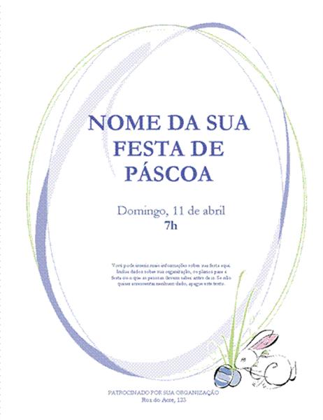 Panfleto de Páscoa (com coelhos)