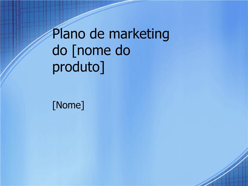 Apresentação de plano de marketing