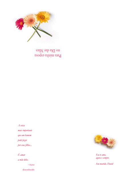 Cartão de Dia das Mães (para esposa)