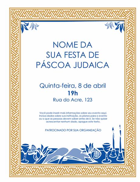 Panfleto de Páscoa Judaica