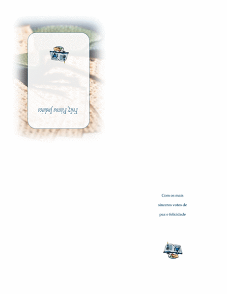 Cartão de Páscoa judaica (com matzá)