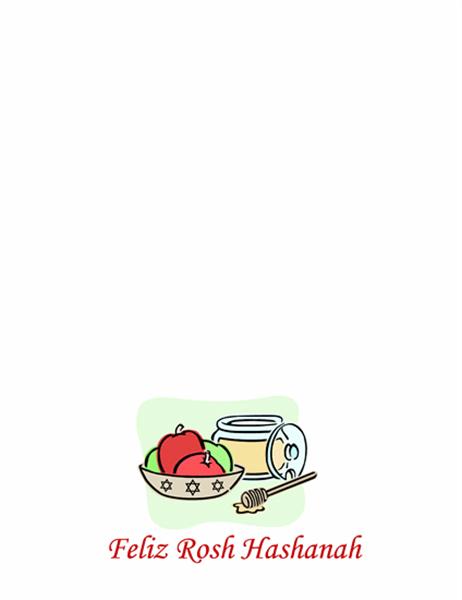 Cartão de Rosh Hashanah (com maçãs e mel)