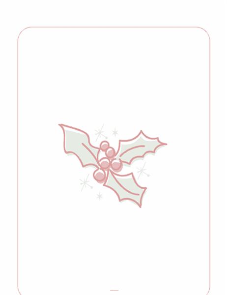 Papel de carta de datas festivas (com marca-d´água de folha de azevinho)