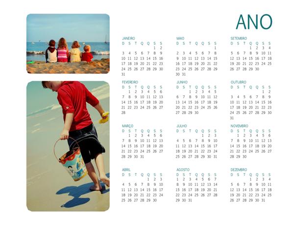 Calendário de Fotos da Família (qualquer ano)