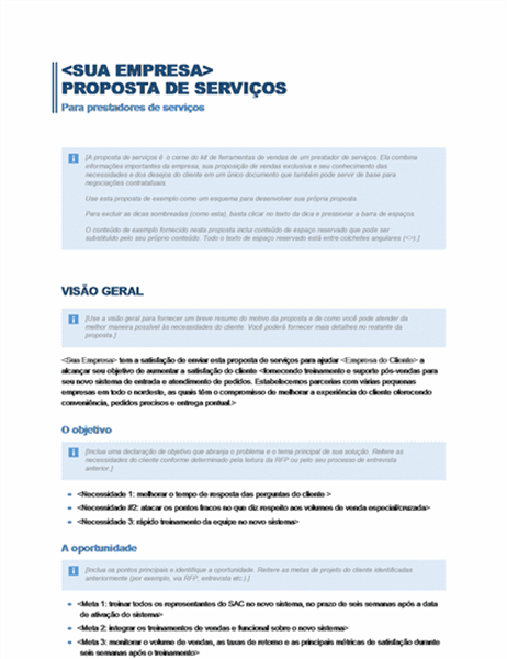 Proposta de serviços