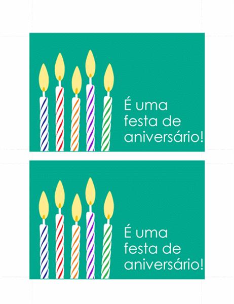 Cartão Postal para Convite de Aniversário