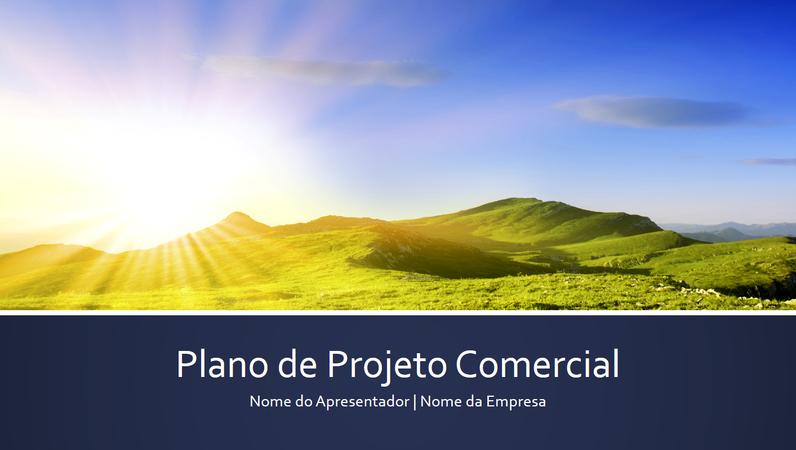 Apresentação de plano de projeto comercial (widescreen)