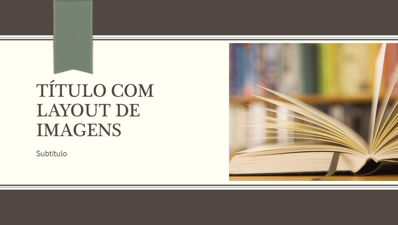 Apresentação acadêmica com design de faixa listrado (widescreen)
