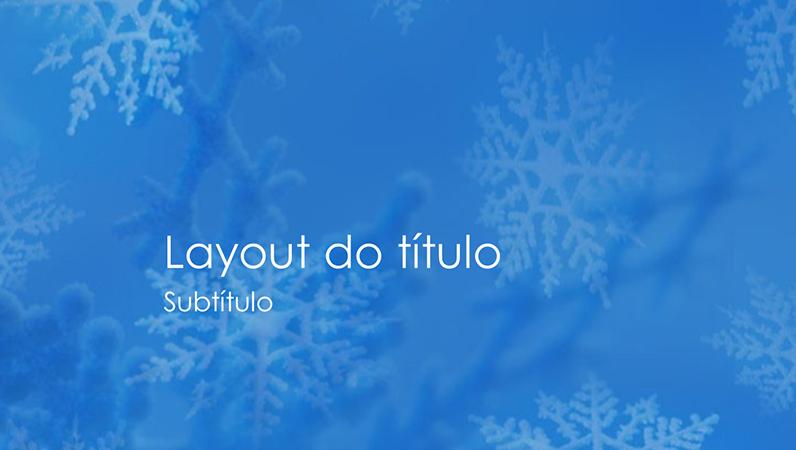 Slides de design de flocos de neve