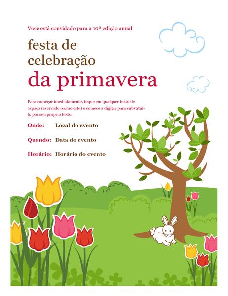 Panfleto de comemoração de primavera