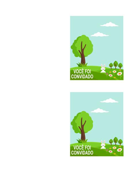 Convites para festa de primavera (2 por página, funciona com Avery 5315 e similares)
