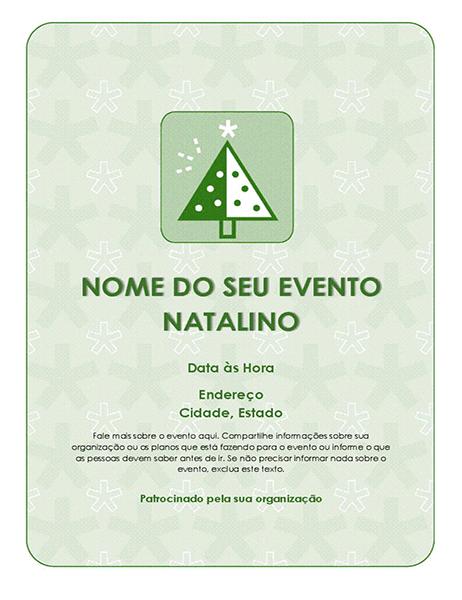 Panfleto de evento natalino (com árvore verde)
