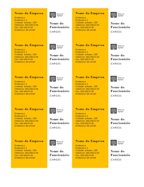 Cartões de visita (design de Barras, 10 por página)