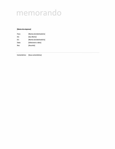 Memorando (design Simples)