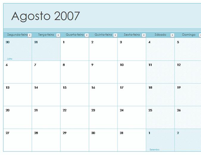 Calendário acadêmico 2007-2008 (13 págs., seg-dom)