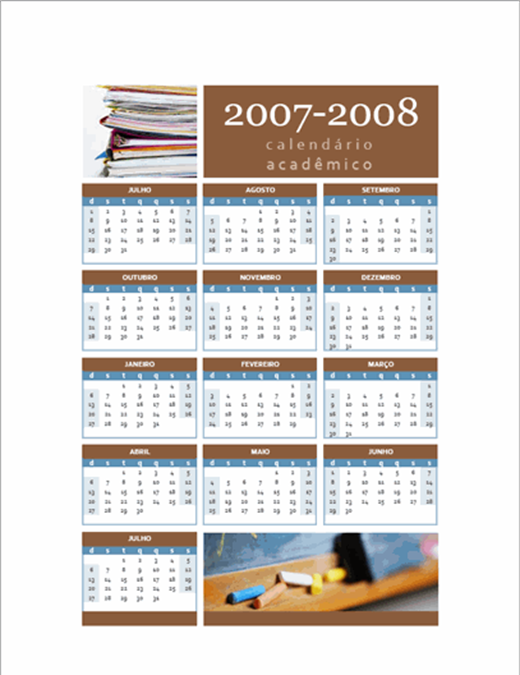 Calendário acadêmico 2007-2008 (1-pág.)