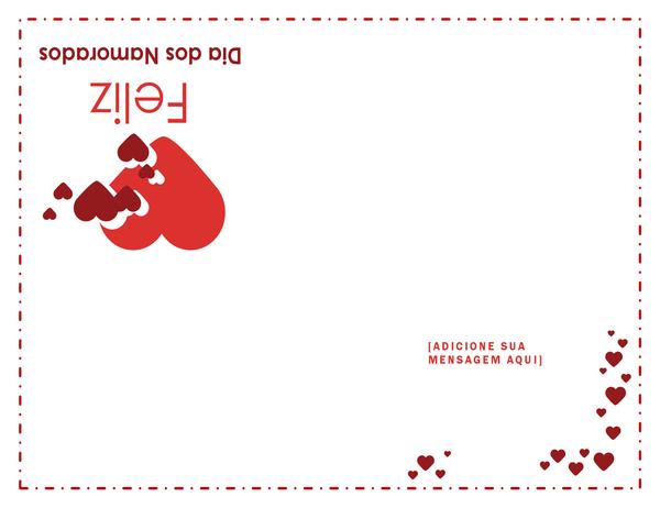 Cartão de Dia dos Namorados (dobra em quatro partes)
