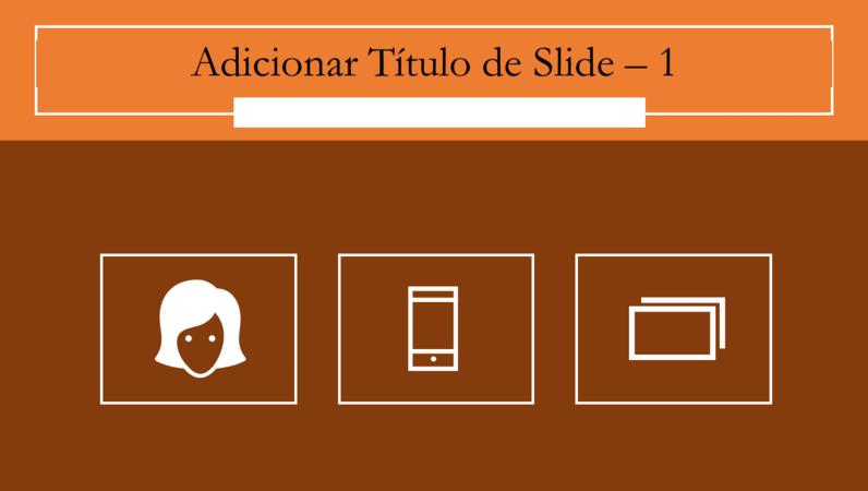 Animação de slides com infográfico