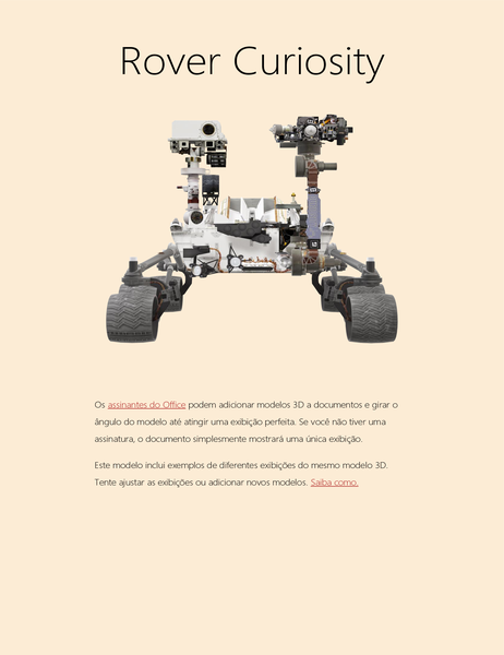 Rapport scientifique 3D Word (modèle Mars Rover)