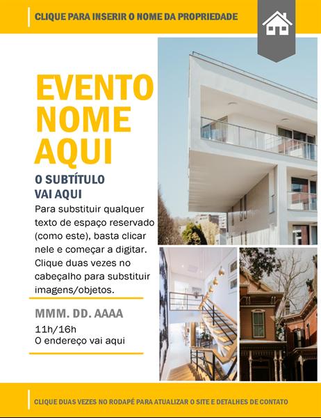 Panfleto de open house