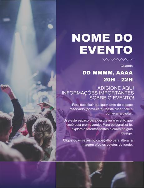 Panfleto de evento cultural