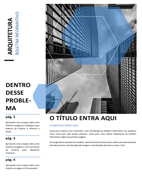 Boletim informativo de arquitetura