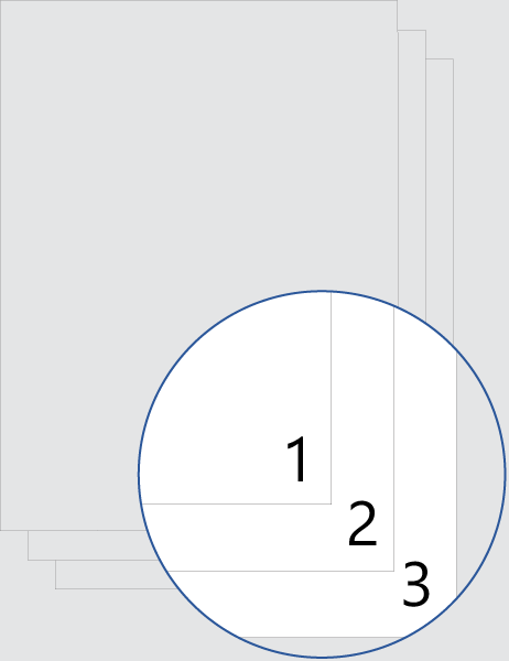 Todas as páginas numeradas (parte inferior)