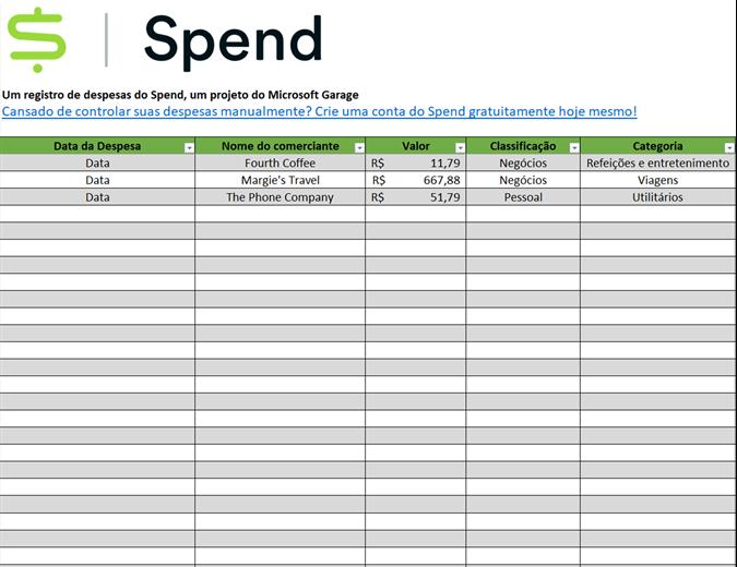 Controlador de despesas