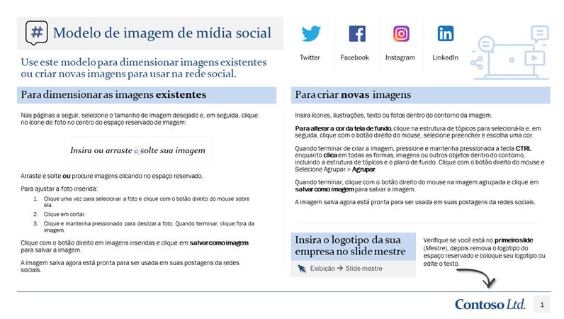 Modelo de imagem de mídia social