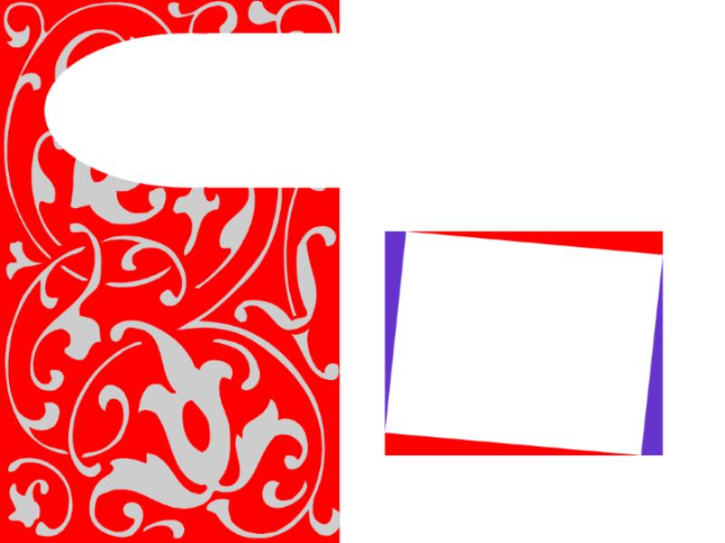 Design de apresentação formato stencil