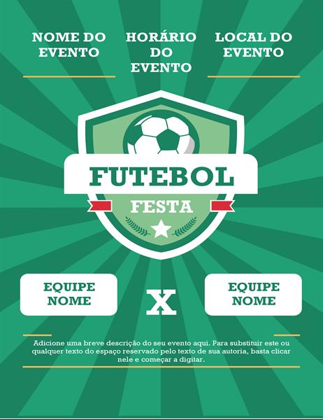 Panfleto de festa esportiva (internacional)