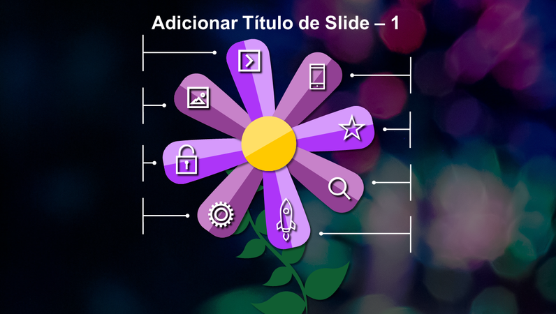 Slide animado de flor