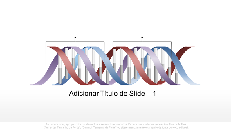 Elemento gráfico de DNA horizontal