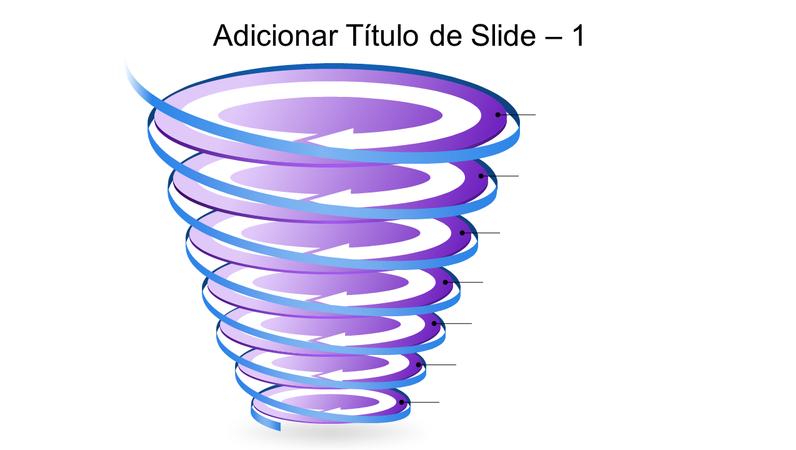 Elemento gráfico em espiral