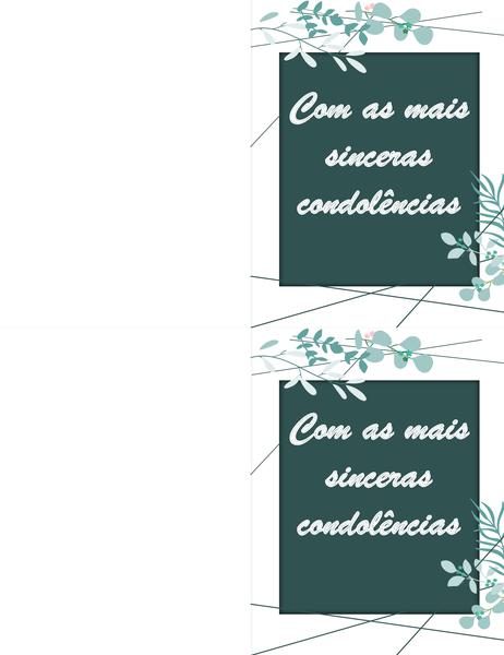 Cartão de condolências verde