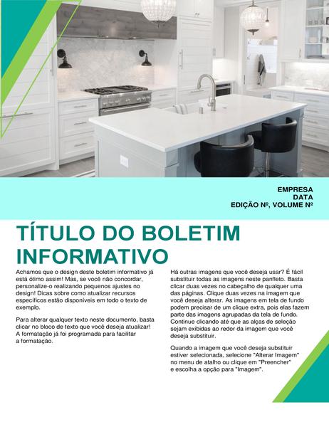 Boletim informativo de design de interiores