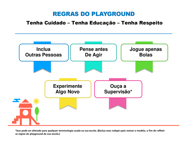 Regras do playground