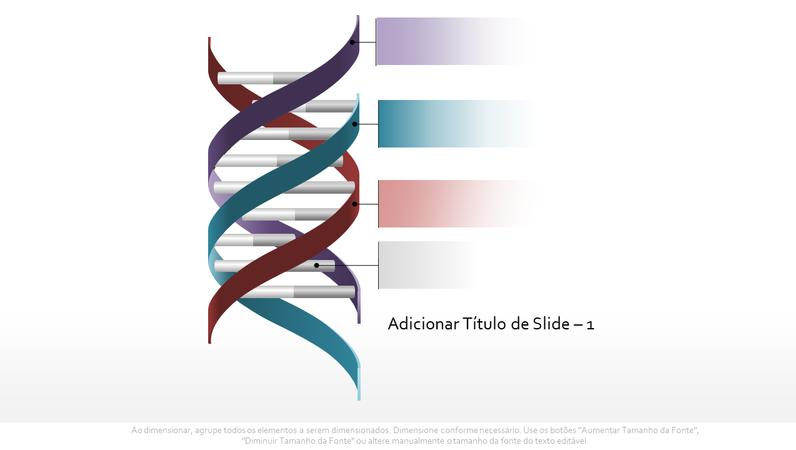Elemento gráfico de DNA com hélice tripla