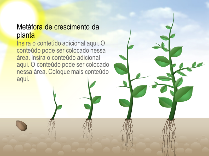 Elemento gráfico de crescimento de planta