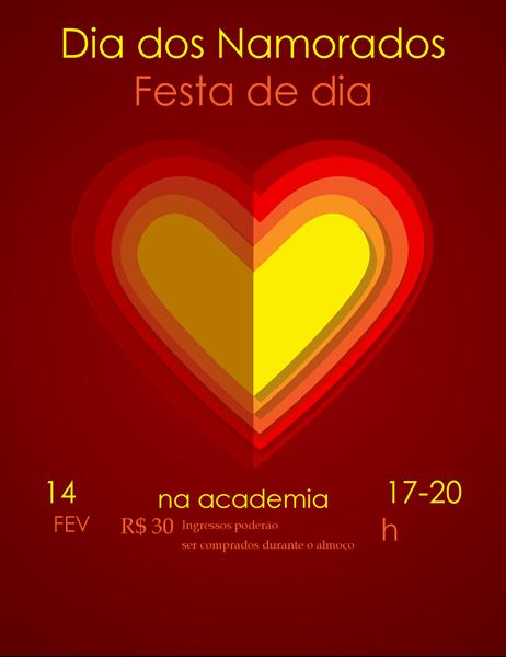 Panfleto de Dias dos Namorados Corações dentro de corações