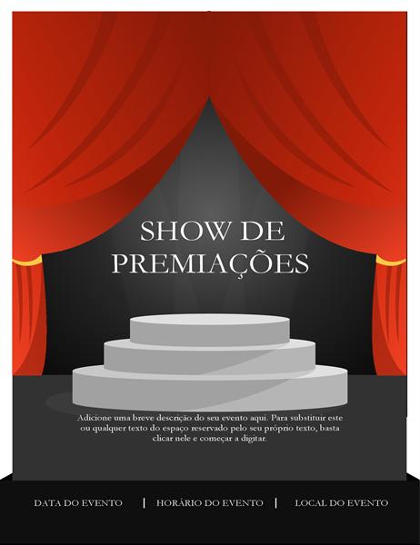 Panfleto de show de premiações