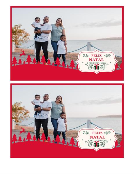 Cartão de Natal com fotos favoritas