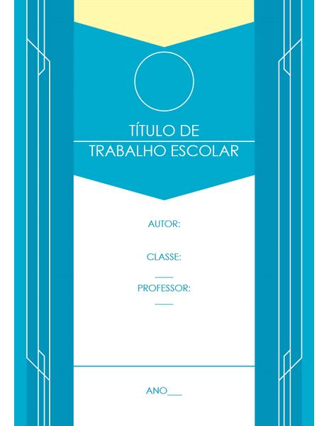 Trabalho Escolar (design em azul)