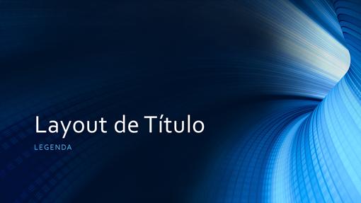 Apresentação digital comercial de túnel azul (widescreen)