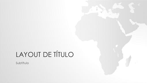 Série de mapas do mundo, apresentação da África (widescreen)