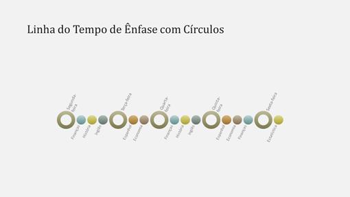 Slide de diagrama de cronograma de evento (widescreen)