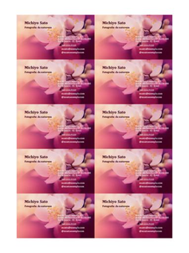 Cartões de visita (foto da flor)