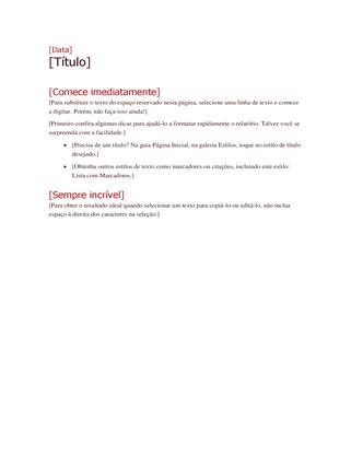 Estrutura de planejamento de projeto modera