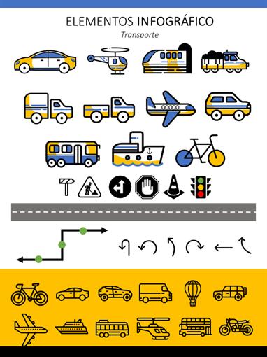 Elementos infográficos de transporte