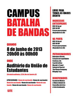 Panfleto do estudante (vermelho e preto)